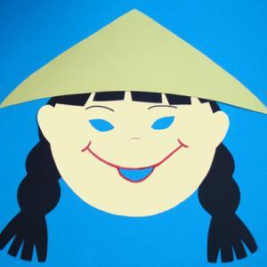 Fabriquer un masque fille chinoise pour découvrir les enfants du monde