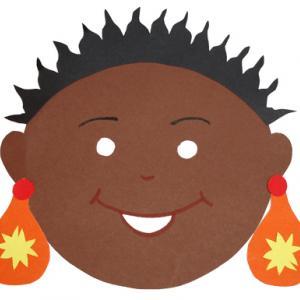 Fabriquer un masque fille africaine pour découvrir les enfants du monde