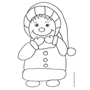 Coloriage d'un enfant de Noël