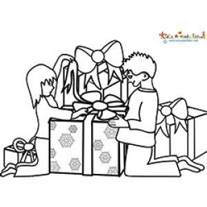 Enfants le matin de Noël
