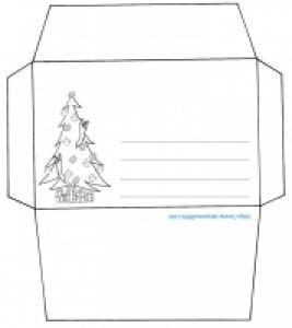 Enveloppe sapin de Noël