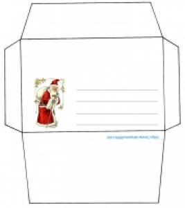 Enveloppe Père Noël