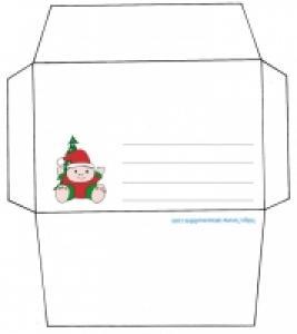 Enveloppe de Noël nounours