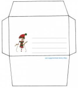 Enveloppe de Noël bonhomme de neige