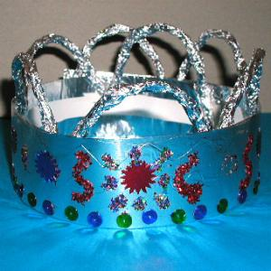 couronne de roi argent et paillettes