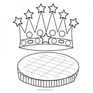 Galette et couronne à colorier pour l'Epiphanie