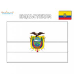 Coloriage drapeau de l'Equateur
