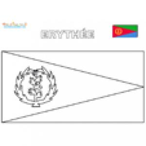 Coloriage drapeau Erythrée