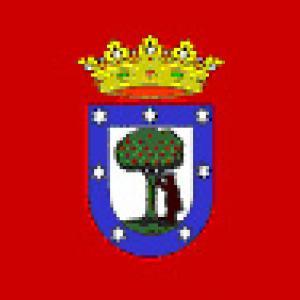 Drapeau de la ville de Madrid en espagne