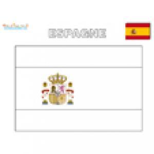 Coloriage drapeau de l'Espagne