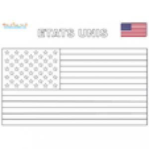 Coloriage drapeau des Etats-Unis
