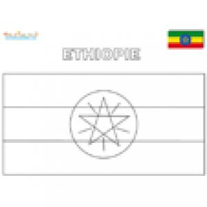 Coloriage du drapeau de l'Ethiopie