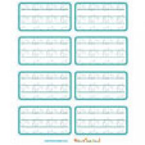 Etiquettes de cahier verte pour la rentrée scolaire