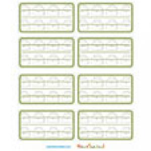 Etiquettes de cahier illustration petit cartable