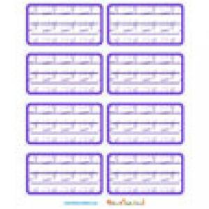 Etiquettes de cahier violettes