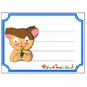 Etiquette cahier Hamster