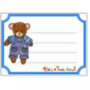 Etiquette ourson à imprimer pour les enfants