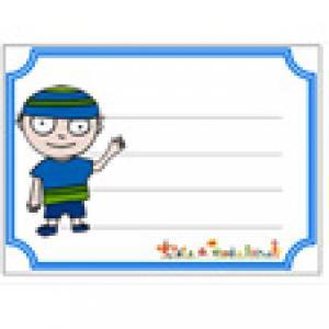 Etiquette de cahier Tête de noeud