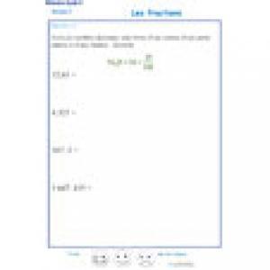 écriture de nombre sous forme de fraction