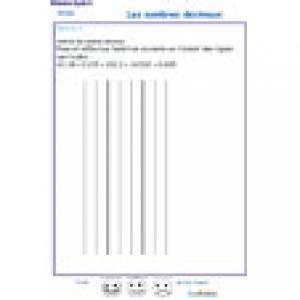 exercice 5 poser une addition de nombres décimaux