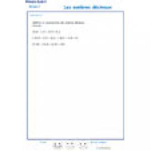 exercice 6 additions et soustractions de nombres décimaux