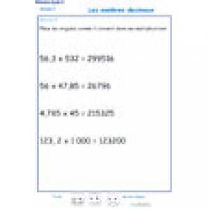 exercice 9 : nombres décimaux