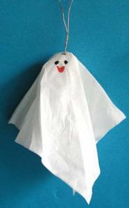 Fantôme halloween en serviettes