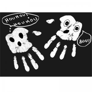 Fantômes empreintes de mains