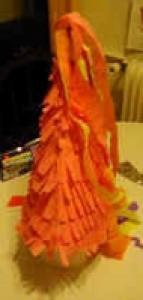 Grand chapeau de fée papier crépon