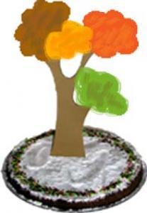decoration arbre pour gâteau