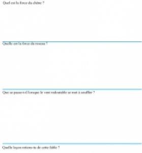 Fiche de lecture sur le chêne et le roseau page 2