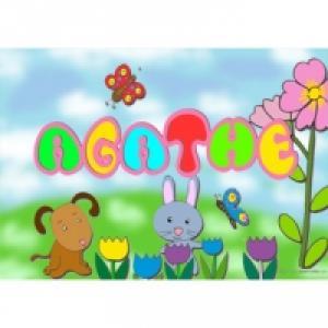 Coloriage prénom : collection coloriage prénoms filles roses