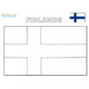 Coloriage du drapeau de la Finlande