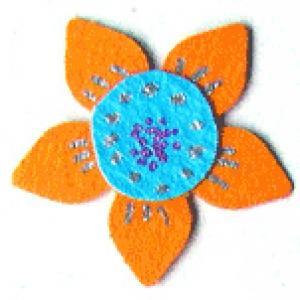 Fleurs redessinées