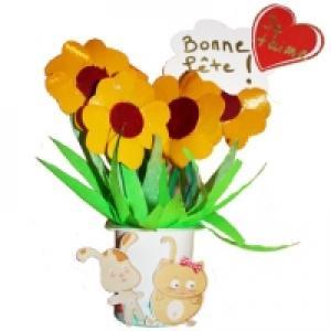 Bouquet de fleurs récup à offrir