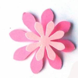 Préparer des fleurs en relief perforatrice