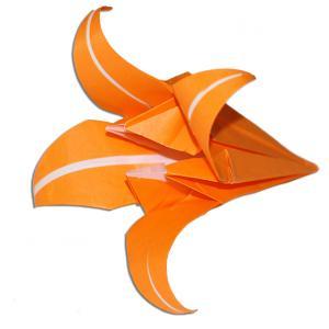 Pliage d'une fleur de lis en origami