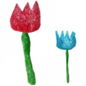 Tulipe en PlayMais à plat