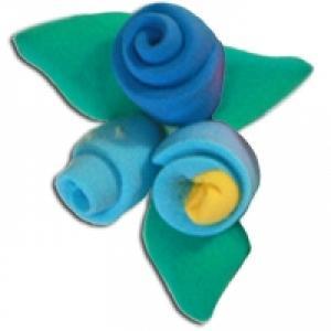 Modelage fleur roulée