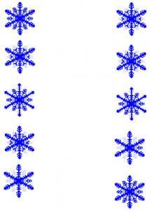 Jeu sur les flocons de neige à imprimer