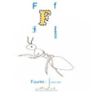 """Imprimer la lettre """"F"""" de l'imagier 2 à colorier : Fourmi"""