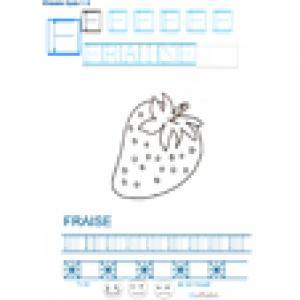 Imprimer la fiche graphisme sur F de FRAISE