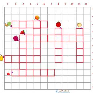 Imprimer une grille de mots croisés fruits cycle 2 grille 2