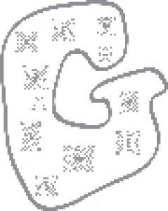 Colorie le G de l'alphabet