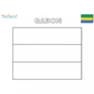 Coloriage du drapeau du Gabon