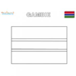 Coloriage du drapeau de Gambie