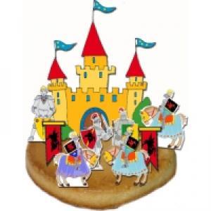 Décoration chevalier pour gâteau d'anniversaire