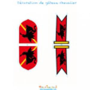 Décoration bannière et bouclier de chevalier