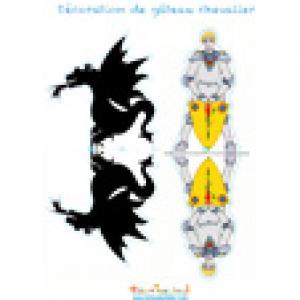Décoration chevalier et dragon noir