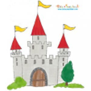 Décoration chateau de chevalier gris